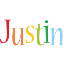 Justin birthday logo