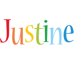 Justine birthday logo