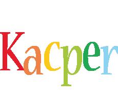 Kacper birthday logo