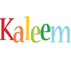 Kaleem birthday logo