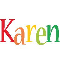 Karen birthday logo
