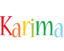 Karima birthday logo