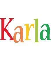 Karla birthday logo
