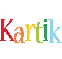 Kartik birthday logo