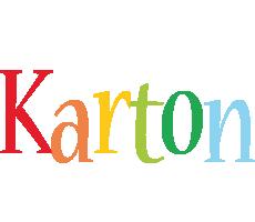 Karton birthday logo