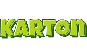 Karton summer logo