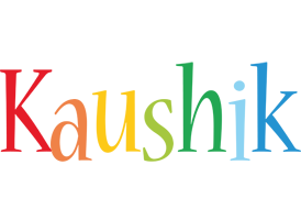 Kaushik birthday logo