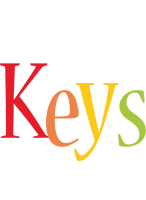 Keys birthday logo