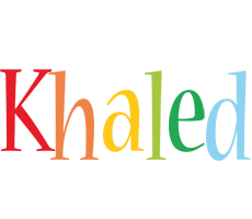 Khaled birthday logo