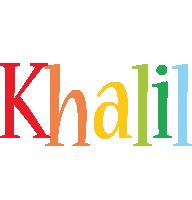 Khalil birthday logo