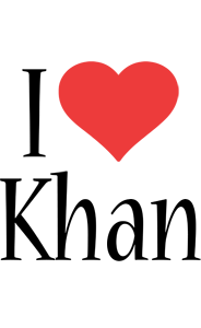 Khan i-love logo