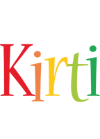 Kirti birthday logo