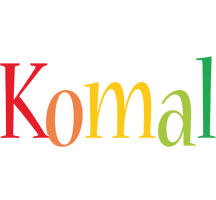 Komal birthday logo
