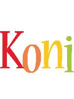 Koni birthday logo