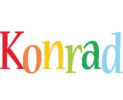 Konrad birthday logo