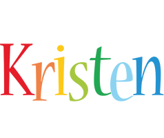 Kristen birthday logo