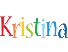 Kristina birthday logo