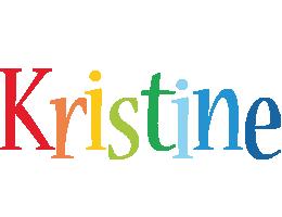 Kristine birthday logo