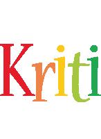 Kriti birthday logo