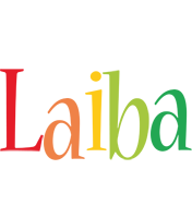 Laiba birthday logo