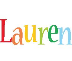 Lauren birthday logo