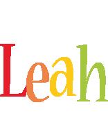 Leah birthday logo