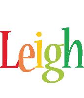 Leigh birthday logo