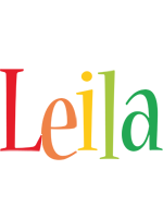 Leila birthday logo