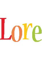 Lore birthday logo