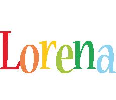 Lorena birthday logo