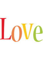 Love birthday logo