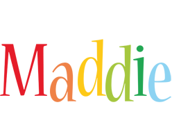 Maddie birthday logo