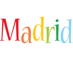 Madrid birthday logo