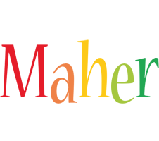 Maher birthday logo