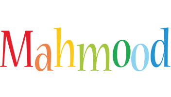 Mahmood birthday logo