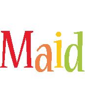 Maid birthday logo