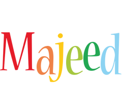 Majeed birthday logo