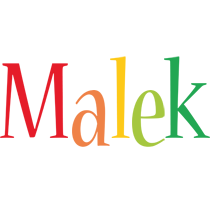 Malek birthday logo