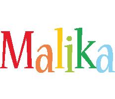 Malika birthday logo