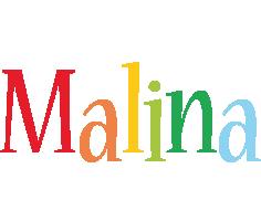 Malina birthday logo