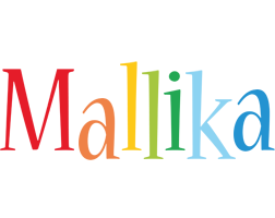 Mallika birthday logo