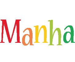 Manha birthday logo