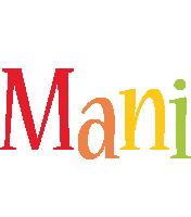 Mani birthday logo