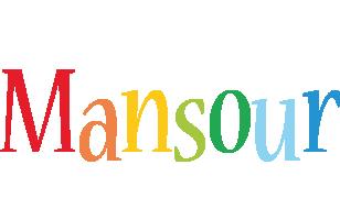 Mansour birthday logo