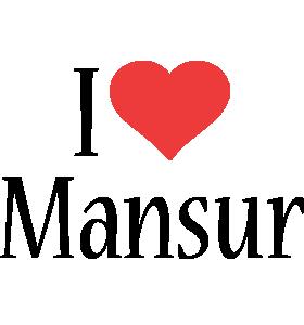 Mansur Logo Name Logo Generator I Love Love Heart