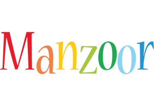 Manzoor birthday logo