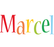 Marcel birthday logo