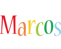 Marcos birthday logo