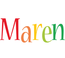 Maren birthday logo