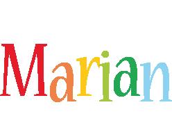Marian birthday logo